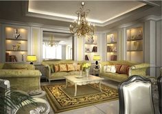 Seating Area Interior Design By VERSACE HOME For DAMAC TOWER A