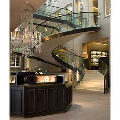 """Upscale Decor | Asprey Luxury Home Decor"" More like a B&B or hotel lobby, but I like the idea of staggered floors - very Euro."