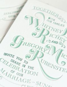 Really nice example of letterpress
