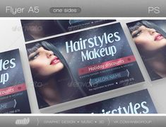 Hairstyles Makeup — Photoshop PSD #beauty salon #fashion • Available here → https://graphicriver.net/item/hairstyles-makeup/3421651?ref=pxcr