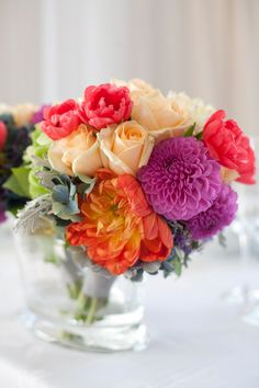 gorgeous bright mixed bouquet
