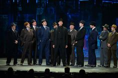 Nick Cordero (C) and the cast of Bullets Over Broadway' performs onstage during the 68th Annual Tony Awards at Radio City Music Hall on June 8, 2014 in New York City.