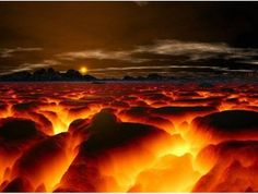 #hot #lava field. Looks like a screenshot from a video game! | Pin by @GuessQuest