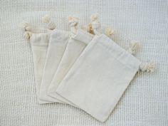 For the lavendar...100 3x5 Thick Premium Quality Drawstring Muslin Bags - Rustic Woodland Favor Gift Bags. $34.50, via Etsy.