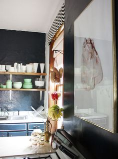 Color Portfolio: Navy Blue Kitchens Paint Color Portfolio: Navy Blue KitchensPortfolio management Portfolio management may refer to: Small Space Living, Small Spaces, Navy Walls, Bright Kitchens, White Kitchens, Kitchen Paint Colors, Handmade Kitchens, Apartment Kitchen, Interior Design