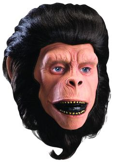 Cornelius Mask This licensed Planet of the Apes Cornelius overhead mask is made from latex. Mask includes synthetic fiber hair. Fits most teens and adults.