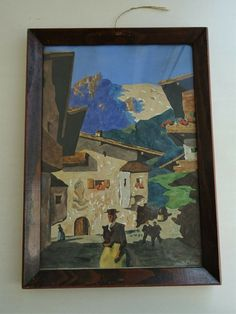 Alfons Walde Stil Art Deco gemalt painted 1941 Holzrahmen Frame Tirol Bergsommer Art Deco, Frame, Painting, Timber Frames, Picture Frame, Painting Art, Paintings, Frames, Painted Canvas