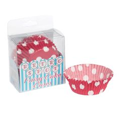 catering suppliesred dotty fairy cake cases£2.5972pk
