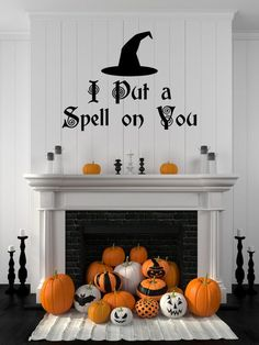 I Put a Spell on You Fireplace mantel