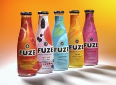 Fuze Fizzy Drinks (£3) -Cranberry Grapefruit -Mixed Berry -Citrus -Orange Carrot -Cranberry Rasberry