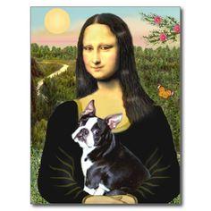 Mona Lisa - Boston T #4 Postcards   Zazzle