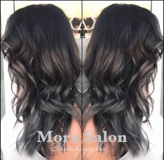 TRANSFORMATION: Strong Sombre To Gray/Slate | Modern Salon