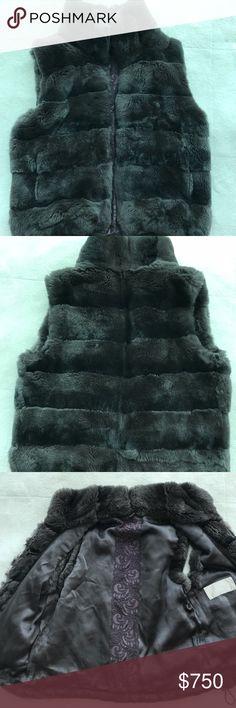 Real fur brown vest by Rech Paris Beautiful soft warm cozy lightweight fur vest by Rech Paris.  Worn only few times, excellent condition. Rech Paris Jackets & Coats Vests