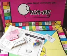 Weed out the lightweights in the room by putting everyone's livers to the test with the Pass Out drinking board game. Players travel around the board while consuming copious amounts of good old alcohol. Last one standing wins - but even when you win, you lose.