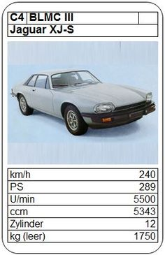 Jaguar XJ-S - ASQ - 1976 Top Trumps, Xjr, Jaguar Xj, Hot Wheels, Super Cars, Automobile, English, Games, Toys