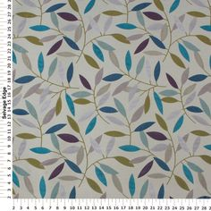 Inspiration fabric for roman shades in laundry and craft room. Furniture, pant, cabinetry to match. BPretty turquoise, lavender and purple leaf print on this Swavelle / Mill Creek Branching Out Calypso Fabric. Mill Creek, Textures Patterns, Fabric Patterns, Leaf Patterns, Fabric Decor, Fabric Design, Drapery Fabric, Habitat Groupé, Motifs Textiles