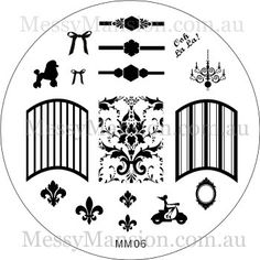 Nail Art Stamping Image Plate MM06  French Girl by MessyMansion, $7.00