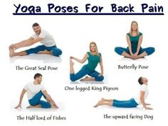 Back pain become common issue for everyone,muscle or ligament strain is common reason of it. Here is Top 10 Back Pain Yoga Poses or yoga pose for Back pain. Yoga Poses For Back, Yoga For Back Pain, Scoliosis Exercises, Back Pain Exercises, Pilates, Yoga Bewegungen, Yoga Flow, Yoga Meditation, Butterfly Pose