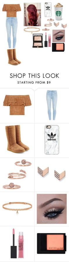 """""""day out"""" by cutieforever10 ❤ liked on Polyvore featuring Paige Denim, UGG, Casetify, Kendra Scott, FOSSIL, BERRICLE, Maybelline and Givenchy"""