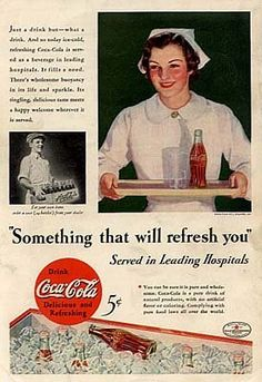 this looks like a great ad.. today, they'll probably get sued for associating the drink with medical healing