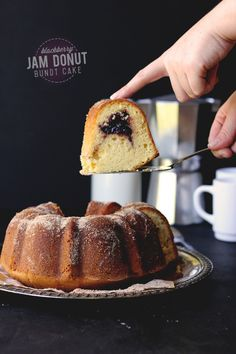 Blackberry Jam Donut Bundt Cake