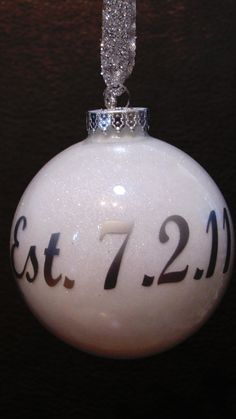 Adorable idea! Couple's first christmas ornaments! Have to do for some friends!