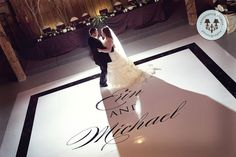 personalized wedding dance floor cover