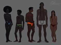 Good ref for skin tones and different body builds