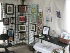 Art Craft Show Display Ideas | ... Bergren and her amazing original art. You can view her Etsy shop here