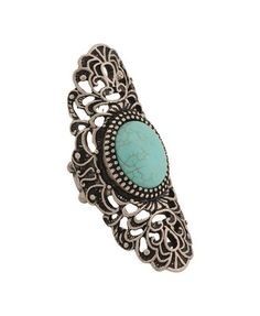 Faux Stone Knuckle Stretchy Ring, Forever 21.