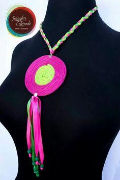 Collar Tejido African Women, Catcher, Decoupage, Crochet Necklace, Babe, Creations, Halloween, Chic, Jewelry