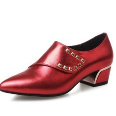 90.00$  Buy now - http://aliq77.worldwells.pw/go.php?t=32616093031 - women square high heel shoes quality sweet lady sexy spring fashion heeled footwear brand pumps heels shoes red silver 90.00$