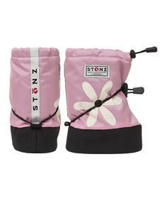 Love this Light Pink Daisy Boot by Stonz on #zulily! #zulilyfinds