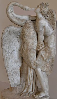 Leda and the swan,lifesize marble statue. Hadrianic age,copy original,perhaps of the Attic school of the mid.1st.cent.BCE Venice  Archaological Museum