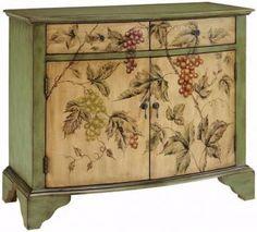 Vintage Vin Cabinet - Love those Grapes!!