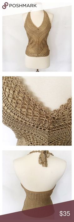 Limited Halter Top Beautiful hand crocheted top. The Limited Tops