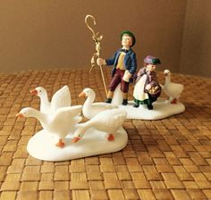 Six Geese A Laying Vintage Twelve Days Of Dickens Village Dept 56 by Purana on Etsy