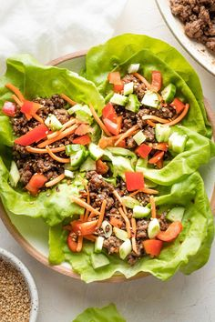 Use ground beef to get these Korean Beef Lettuce Wraps on the table in less than 20 minutes! So delicious, healthy, and easy to make, they'll be a new go-to for lunch and dinner. Great for meal prep, too. Easy Lettuce Wraps, Easy Family Meals, Family Recipes, Korean Beef, Quick Weeknight Meals, Meal Prep For The Week, Wrap Recipes, Lunches And Dinners, Asian