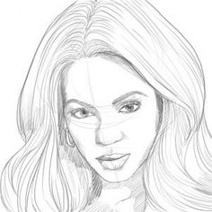 how to draw beyonce step 6