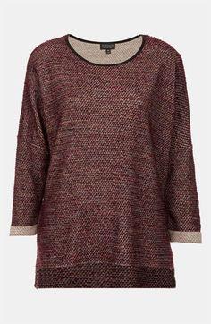 Topshop Bouclé Sweatshirt available at #Nordstrom