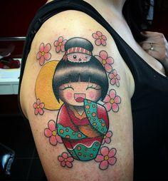 Lila Tattoo, Tattoo You, Doll Japan, Neo Traditional Tattoo, 2020 Design, Bellisima, Minis, Old School, Asian