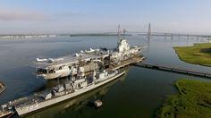 https://flic.kr/p/weiVPr | USS Yorktown | Aerial photo of USS Yorktown aircraft carrier in Charleston SC