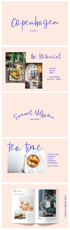 Copenhagen | A Casual Script by Sinikka Li on @creativemarket
