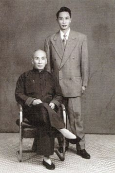 Ip Man with his son, Ip Cheng