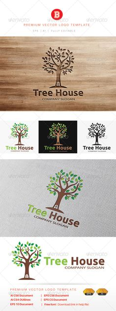 Tree House - Logo Design Template Vector #logotype Download it here: http://graphicriver.net/item/tree-house/8135671?s_rank=681?ref=nesto