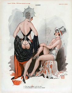 Illustration by Georges Leonnec for La Vie Parisienne, 1931