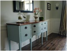 blue buffet hutch... exactly what i'm looking for to put in the dinning room.