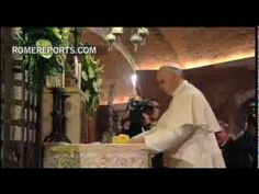 Pope Francis visits the tomb of St. Francis