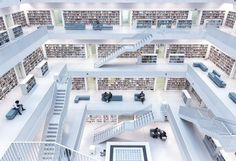 Luz natural. Biblioteca Stutgart, Alemania. Foto ganadora de National Geographic 2017.