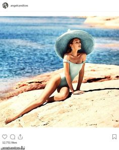 fd61d3c497b0 A little 1950s vibe: She had on a low cut one piece swimsuit that fell